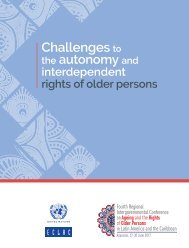 Challenges to the autonomy and interdependent rights of older persons