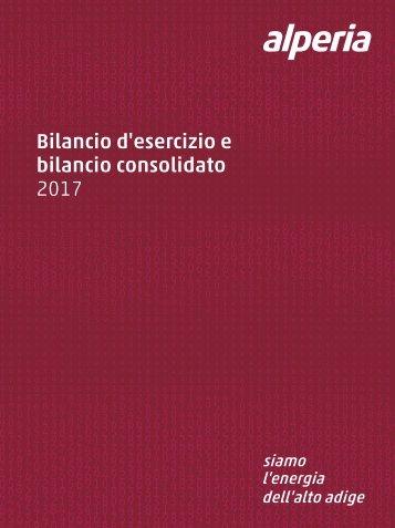 Bilancio d'esercizio e bilancio consolidato Alperia 2017