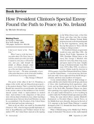 How President Clinton's Special Envoy Found the Path to Peace in ...