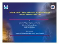 Tropical Pacific Climate Information & Prediction System - Center for ...