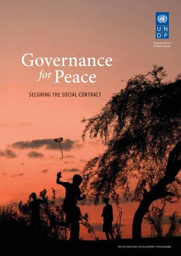 Governance Peace - United Nations Development Programme