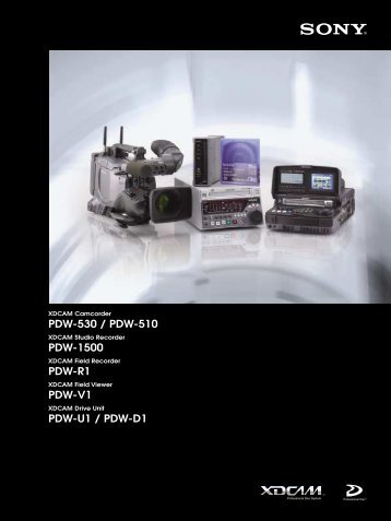 PDW-1500 - Sony Professional Solutions Asia Pacific
