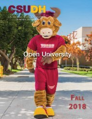Fall 2018 Open University Schedule (Interactive)