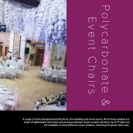 Polycarbonate & Event Chairs