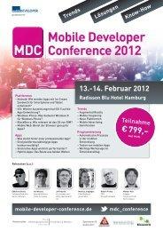 14. Februar 2012 Radisson Blu Hotel Hamburg - Mobile Developer ...