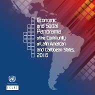 Economic and Social Panorama of the Community of Latin American and Caribbean States, 2016