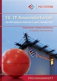 10. IT-Anwenderforum - PDV-Systeme