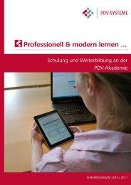 Anwenderkurse - PDV-Akademie