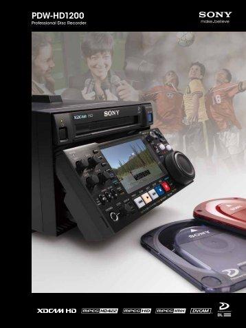 PDW-HD1200 - VideoCorp