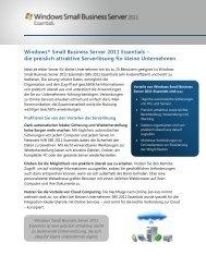 Windows Small Business Server 2011 Essentials - Microsoft