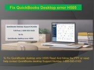 1-800-593-0163 QuickBooks Desktop Error H505