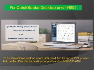 1-800-593-0163 QuickBooks Desktop Error H505