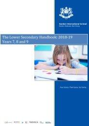 GIS Lower Secondary Handbook  2017-18