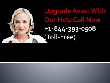 Upgrade Avast +1-844-393-0508