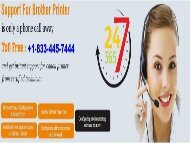 Brother Printer Technical Help Support Number +1-833-445-7444 USA/Canada