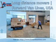 Long Distance Movers from Forward Van Lines