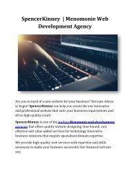Menomonie Web Development Agency