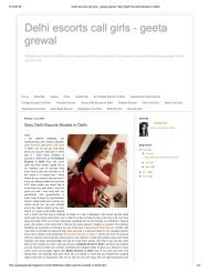 Delhi escorts call girls - geeta grewal