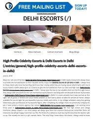 High Profile Celebrity Escorts & Delhi Escorts In Delhi