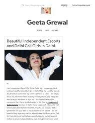 Geeta Grewal — Beautiful Independent Escorts and Delhi Call Girls.._