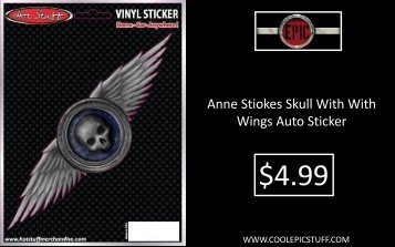 Anne Stiokes Skull With With Wings Auto Sticker - Cool Epic Stuff