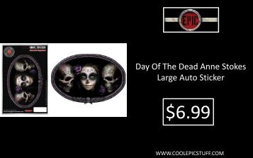 Day Of The Dead Anne Stokes Large Auto Sticker