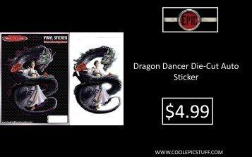 Dragon Dancer Die-Cut Auto Sticker - Cool Epic Stuff