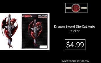 Dragon Sword Die-Cut Auto Sticker - Cool Epic Stuff