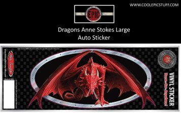 Dragons Anne Stokes Large Auto Sticker - Cool Epic Stuff