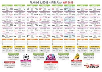 Plan de Juegos - Mundial WM 2018