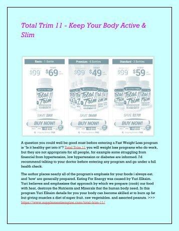 Total Trim 11 - Burn Your Body Fat