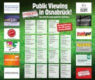 Public Viewings in Osnabrück