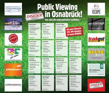 Public Viewings in Osnabrück