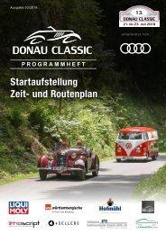 Donau Classic Programmheft 2018