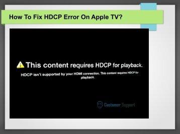 How To Fix HDCP Error On Apple TV