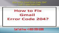 How to Fix Gmail Error Code 204? +1-800-209-5399