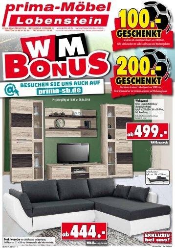 WM-Bonus sichern! Prima Möbel 07356 Bad Lobenstein