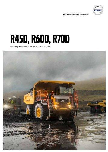 Volvo Muldenkipper R70D - Datenblatt / Produktbeschreibung