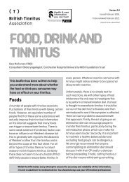 Food drink and tinnitus Ver 2.0