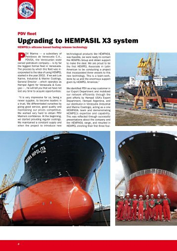 Upgrading to HEMPASIL X3 system - Industrial & Marine Coatings ...