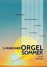 Orgelsommer 2018 Programm