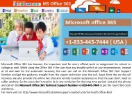 Microsoft office 365 Support Number +1-833-445-7444