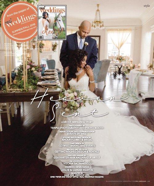 Real Weddings Magazine - Summer/Fall 2018 - Heaven Sent-A Decor Inspiration Story {The Digital Layout}