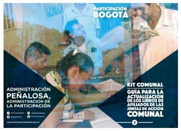 Kit Comunal. Guía para la actualización de los Libros de afiliados de las Juntas de Acción Comunal1