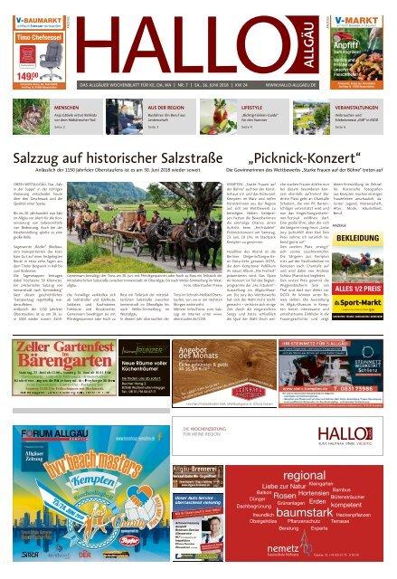 Hallo-Allgäu Kempten, Oberallgäu, Westallgäu vom Samstag, 16.Juni