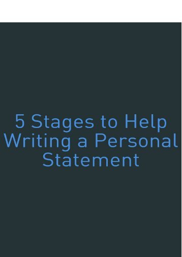 5 Stages to Help Writing a Personal Statement