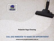 Polyester Rugs Cleaning