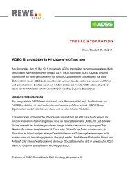 ADEG Brandstätter in Kirchberg eröffnet neu - ADEG Österreich ...