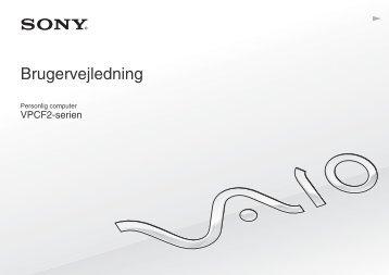 Sony VPCF22M1R - VPCF22M1R Mode d'emploi Danois