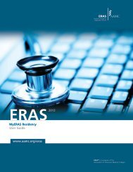 MyERAS Residency User Guide www.aamc.org/eras 2013